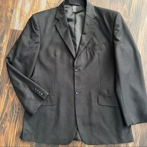 Men's Claiborne black blazer jacket 44R